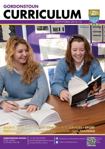 Sixth Form Curriculum here - Gordonstoun
