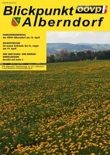FAMILIENWANDERTAG der OÖVP Alberndorf am 14. April ...