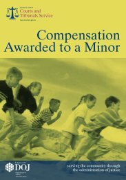 A Guide to Compensation awarded to a minor - Northern Ireland ...