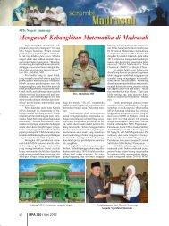 Mengawali Kebangkitan Matematika di Madrasah - Kemenag Jatim