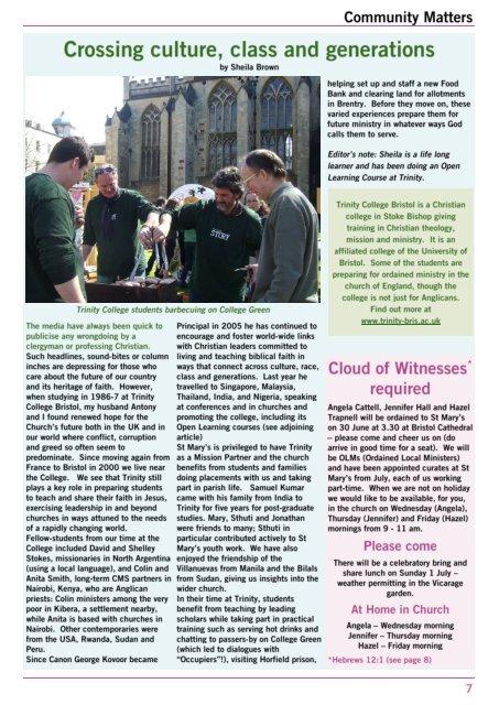 St Mary's Messenger - Summer 2012