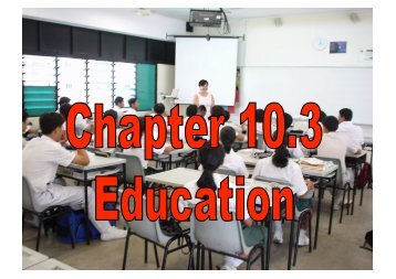 Chapter 10 – Education [Powerpoint Slides] - Get a Free Blog