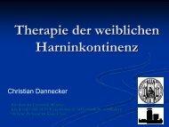 Therapie der weiblichen Harninkontinenz