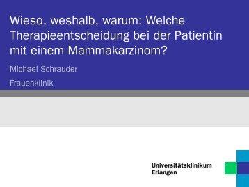 Welche Therapieent-scheidung bei der Patientin mit ...