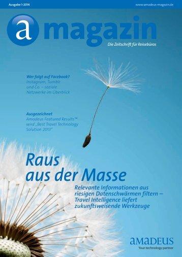 amadeus Magazin | Ausgabe 1/2014