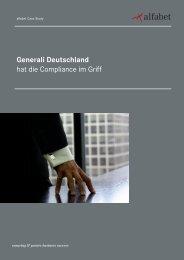 Generali Deutschland hat die Compliance im Griff - Alfabet