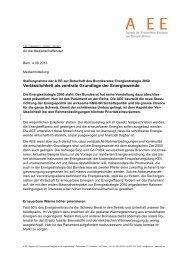 Stellungnahme der A EE zur Botschaft des ... - AEE SUISSE