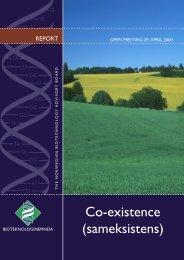 Rapport fra åpent møte om sameksisten.indd - Bioteknologinemnda