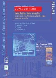 Ventilation Non Invasive au cours de l'insuffisance ... - SRLF