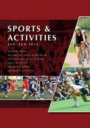 Download Sports and Activities booklet (Jan - Jun 2013)