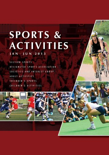 Download Sports and Activities booklet (Jan - Jun 2013)