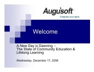 The State of Community Education - Augusoft