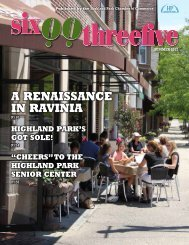 A RenAissAnce in RAviniA - Highland Park Chamber of Commerce