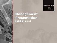 View this Presentation (PDF 3.26 MB) - RioCan
