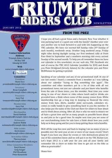 Triumph Riders Club Newsletter January 2012.pdf