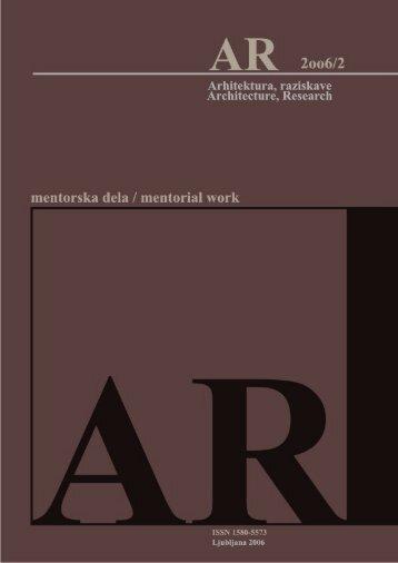 Revija 2006/2 v PDF - Fakulteta za arhitekturo - Univerza v Ljubljani