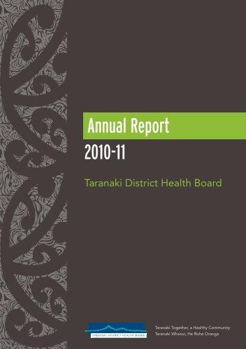 2010-11 Annual Report - Taranaki District Health Board