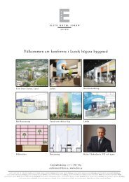 Välkommen att konferera i Lunds högsta byggnad - Elite Hotels