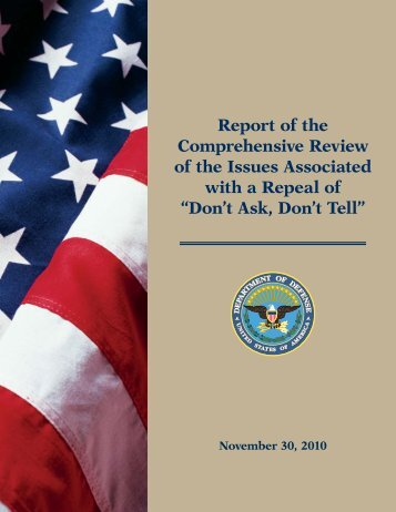 Report of the Comprehensive Review of the Issues Associated with ...