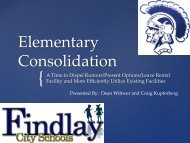 Elementary Consolidation 11.14.12 Powerpoint - Findlay City Schools