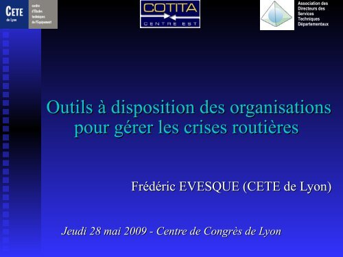 Outils - CoTITA