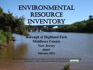 Environmental Resource Inventory The Borough of Highland Park ...