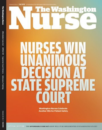 Issue 42.3 - Fall 2012 - The Washington State Nurses Association