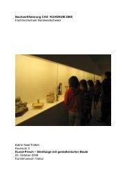 Projekt- Dokumentation zur Kunst-Pirsch - Kuverum