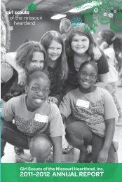2011-2012 ANNUAL REPORT - Girl Scouts of the Missouri Heartland