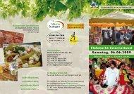Flohmarkt International Samstag, 06.06.2009 - Forum der Kulturen