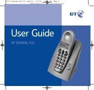 Diverse X10 User Guide - Help | BT Business