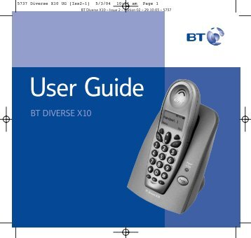 Diverse X10 User Guide - Help | BT Business