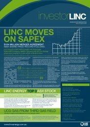 August 2008 - Linc Energy