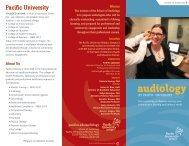 Audiology Brochure (PDF) - Pacific University