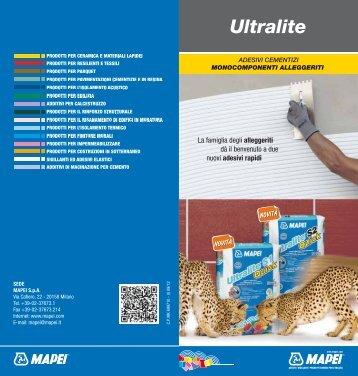 LEAFLET fam ULTRALITE 2012 ita - Mapei