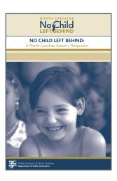 NO CHILD LEFT BEHIND: - Henderson County Public Schools