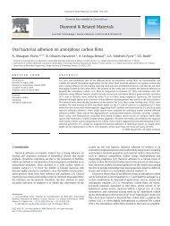 Oral bacterial adhesion on amorphous carbon films - Páginas ...