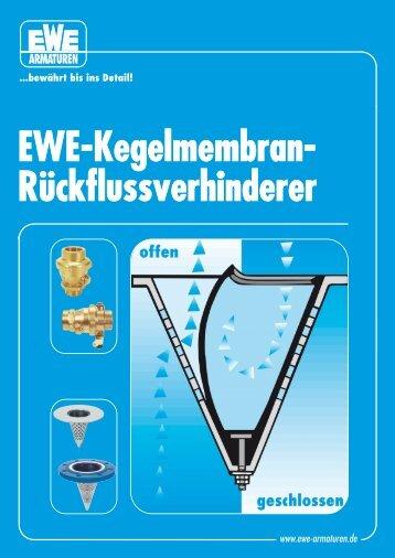 EWE-Kegelmembran- Rückflussverhinderer