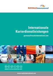 Internationale Kurierdienstleistungen - Royale International Group