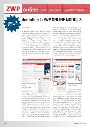 dentalfresh ZWP online Modul 3 - zahniportal.de