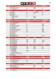 Maskinlista PDF - HYR IN