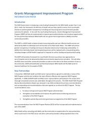Grants Management Improvement Program Information ... - NCOSS