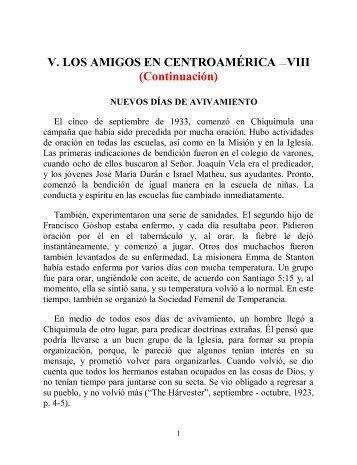 V. Los Amigos en Centro América VIII - Instituto ALMA