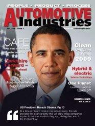 US President Barack Obama. Pg 10 - Automotive Industries
