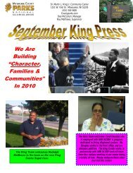 """We Are Building """"Character, Families ... - Milwaukee County"""
