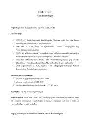 Müller György szakmai életrajza - Közigazgatás-tudományi Kar