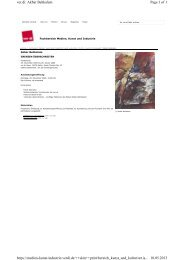 Art.iS: Ausstellungen 2006-2012 - Fachbereich Medien, Kunst und ...
