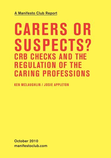 Carers or suspeCts? - Manifesto Club