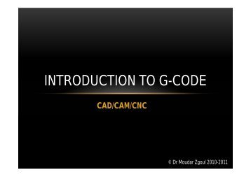 INTRODUCTION TO G-CODE - FET