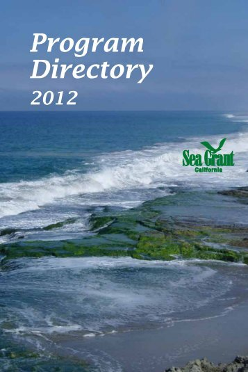 Program Directory - California Sea Grant - UC San Diego